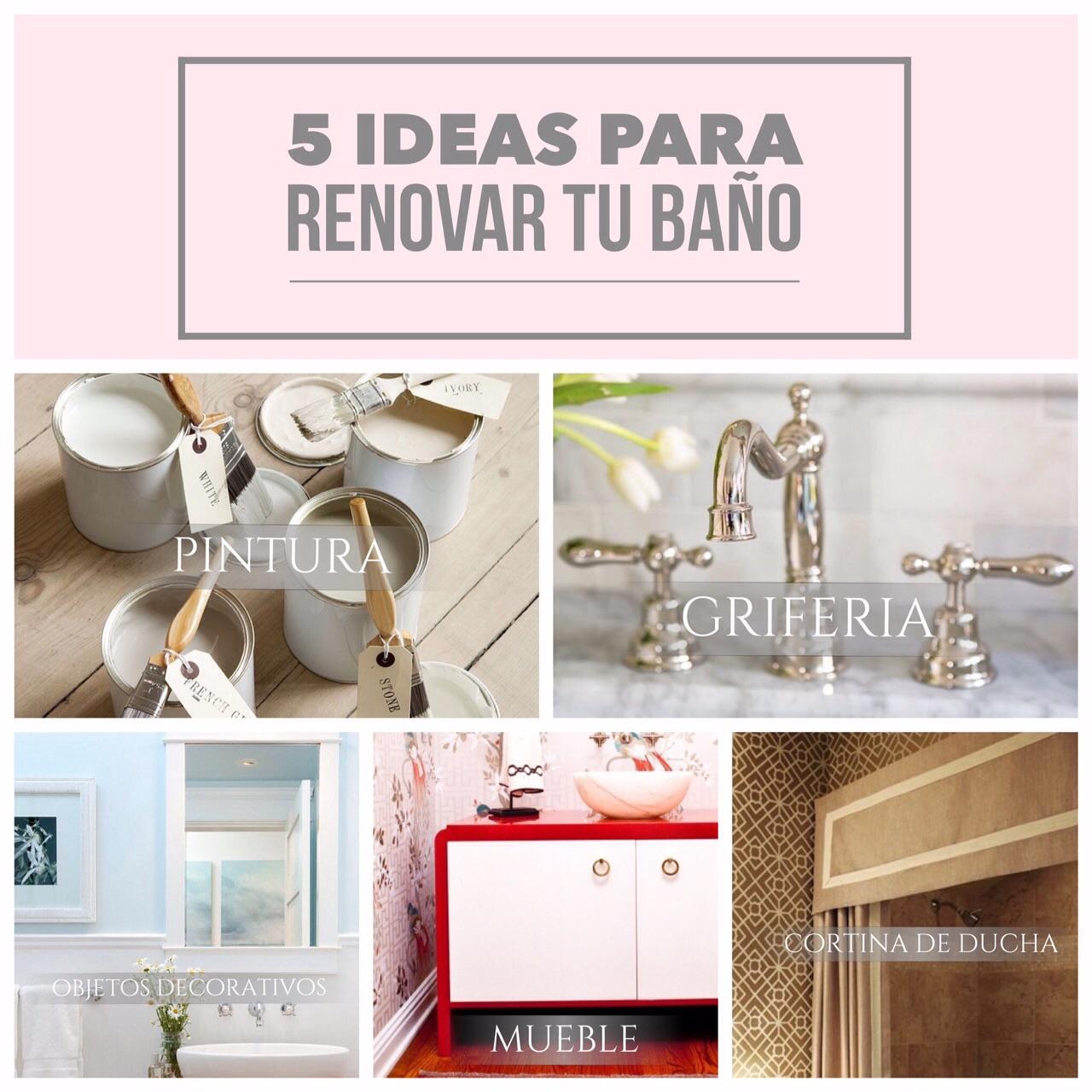 Renovar Baño Pequeno:Enfócate en los detalles y sigue estas 5 ideas para renovar tu baño