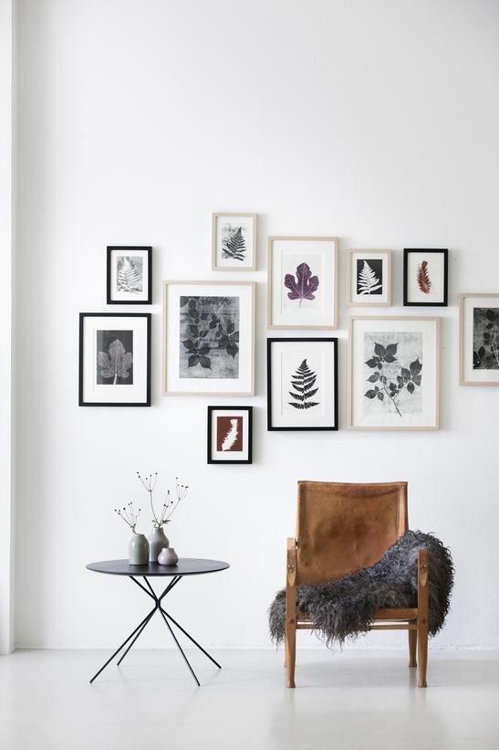como decorar paredes con cuadros y fotos