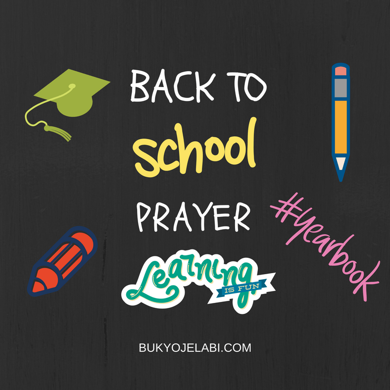 Back To School Prayer