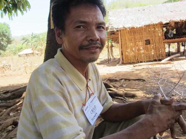 Marcelo Carpulan, Iraya-Mangyan and leader of Haggibat, talks about their aspirations for the Mangyan last Mangyan Day (Apr 2013) in Sta. Cruz, Mindoro (Photo by M. Salamat / www.bulatlat.com)