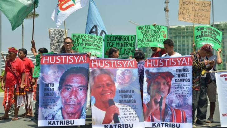 #StopLumadKillings |  Groups protest 'butcher mining companies' confab
