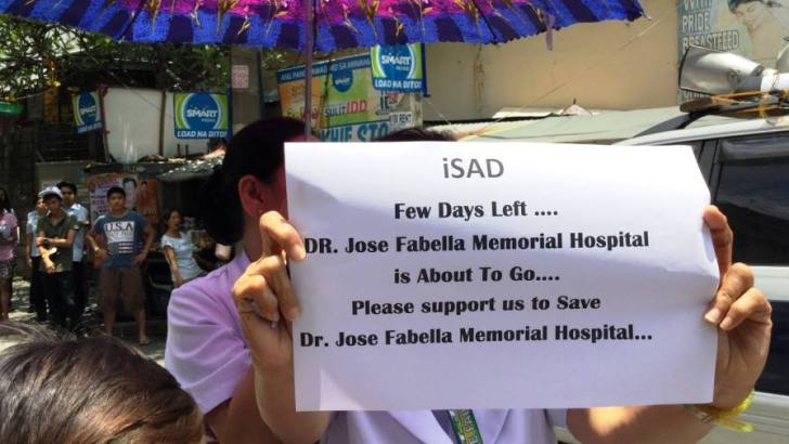 Employees, patients protest eviction of Fabella Hospital