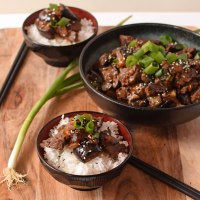 Spicy garlic beef and eggplant