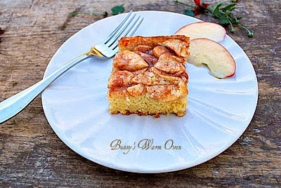 Apple Topped Cream Cheese Coffee Cake - Bunny's Warm Oven