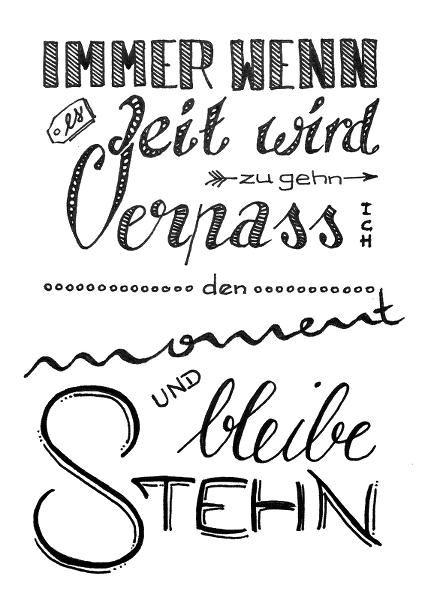 Hand-Lettering in der Bunten Galerie
