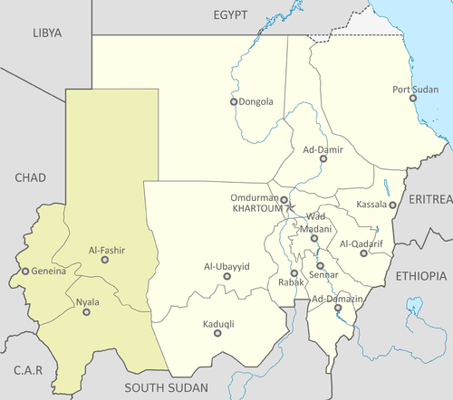 A map of Sudan. | Photo courtesy of Wikimedia Commons user Spesh531.