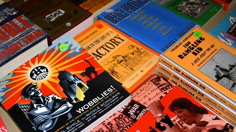 Books at the Anarchist Book Fair. | Photo by Ali Carter.