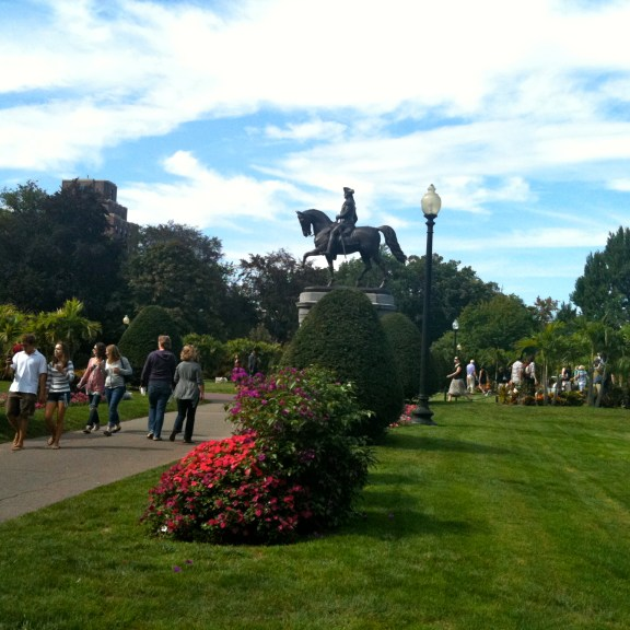 A statue of George Washington in the Public Garden. | Photo by Briana Seftel