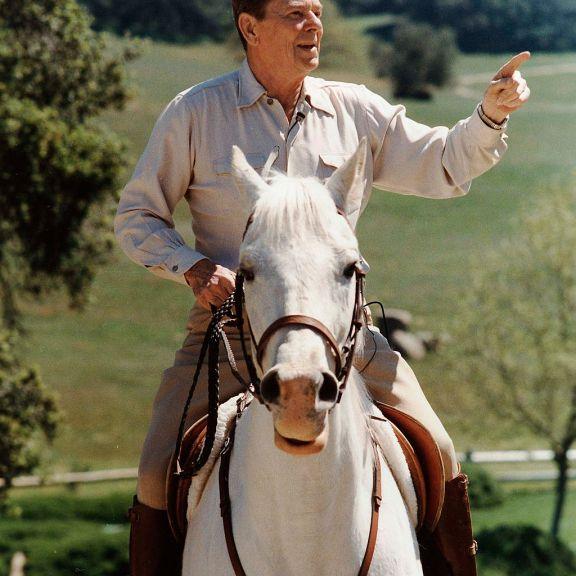 Reagan on Horseback
