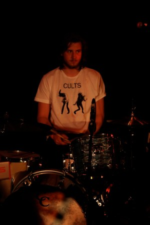 Spectral's drummer in a Cults t-shirt