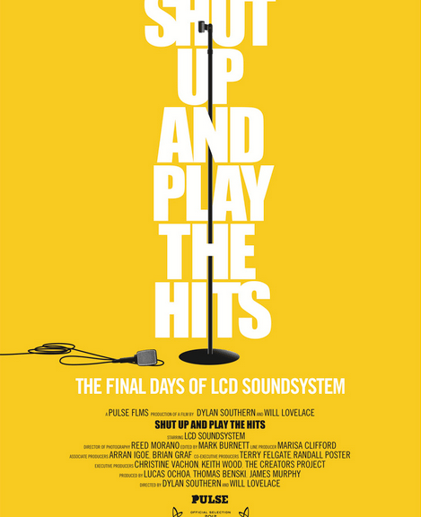 Shut Up and Play the Hits Poster.