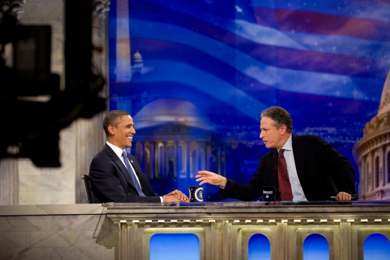 President Obama on The Daily Show. | Photo courtesy of Wikimedia Commons via Pete Souza