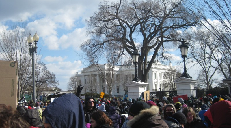 The rally outside of the White House. | Photo by Ari Stern