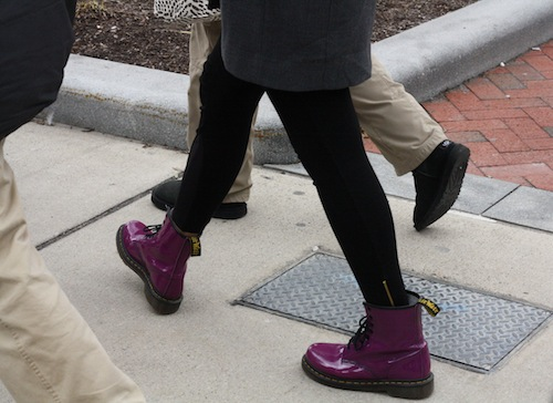 Spotted: the most perfect purple Docs. Photo by Sharon Weissburg.