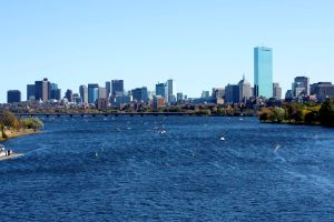 Boston served as a gorgeous backdrop as boats speckled the Charles River - Photo by Hanna Klein