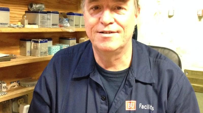 Robbie, a BU electrician. | Photo by Cecilia Weddell