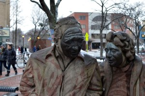 """Ten Figures"" statues in Davis Square 