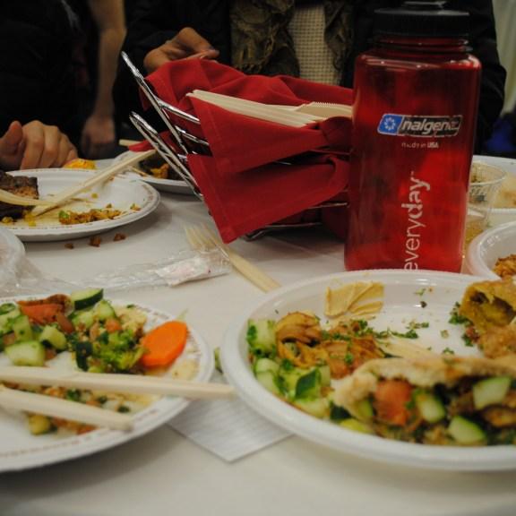 Food at the International Food Festival   Photo by Carol Chin