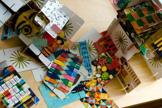 The House of Cards toy designed by Ray and Charles Eames.   Image courtesy of Flickr user Ph0enixInFlight