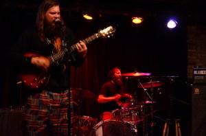 Notice Matt Raskopf singing and playing both drums and the tambourine | Photo by Kara Korab