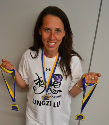 Jennifer Carter-Battaglino, a BU Residence Life hall director and marathon PDP coach, will run her fourth Boston Marathon this year for Lu Lingzi. | Photo by Cecilia Weddell