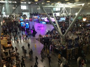 A section of the 2014 PAX East show floor. Photo courtesy of Andrew Evans.