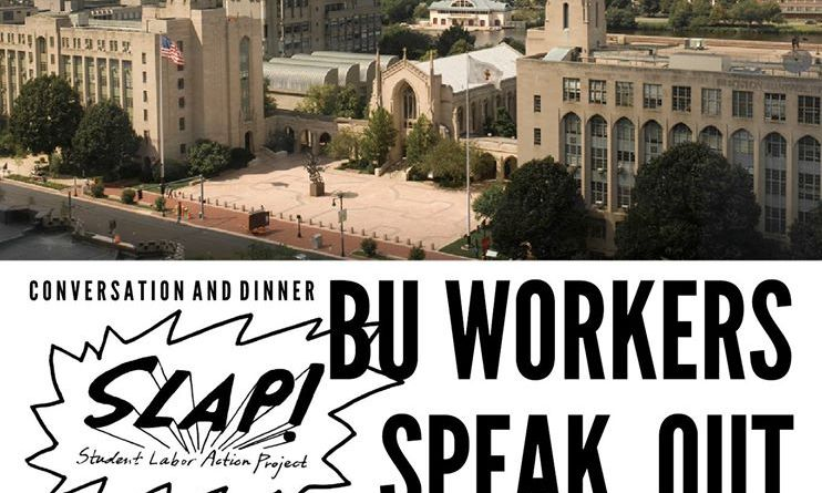 SLAP is sponsoring the BU Workers Speak Out event on Tues. Oct. 7 | Photo courtesy of SLAP