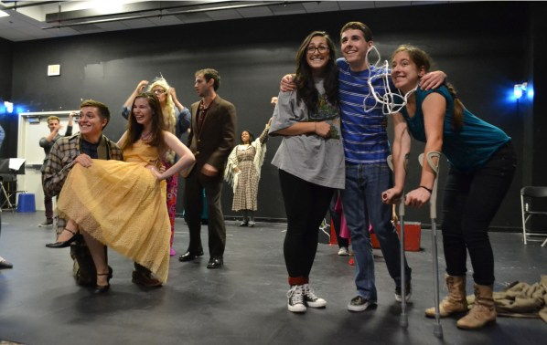 The cast is all smiles for the Act 1 finale | Photo by Alene Bouranova