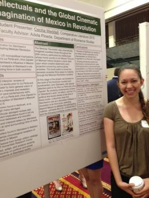 Cecilia Weddell presents her study on Mexican Revolution films | Photo courtesy of Beth St. John