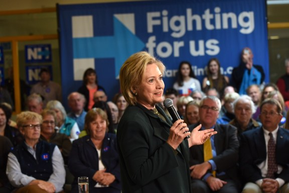 Hillary Clinton in Berlin, New Hampshire on October 29, 2015. | Photo by Barbara Kinney for Hillary for America