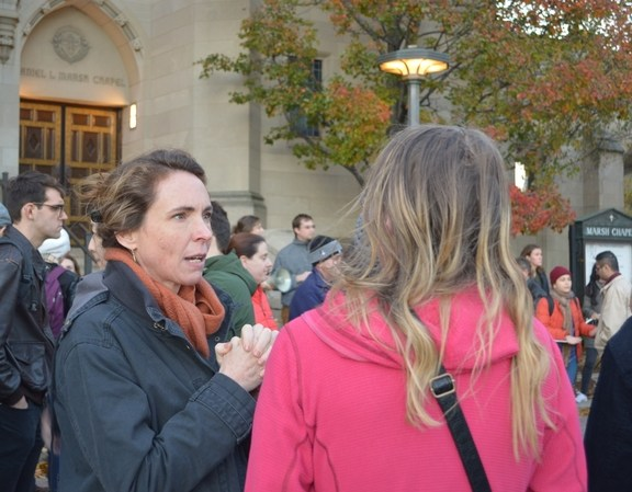 Jennifer Kanust, one of the faculty speakers, discusses her thoughts and feelings after the election.