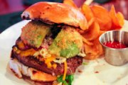 National Hamburger Week 2014 Day 4: Fried Avocado Burgers at Heavy Seas