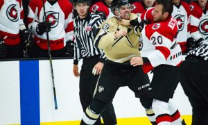 Spencer Metcalfe Cyclones Mitch Vandergunst Wheeling Nailers