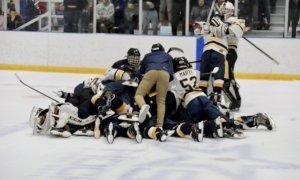 Mars celebrates Penguins Cup Quarterfinal OT win over Montour