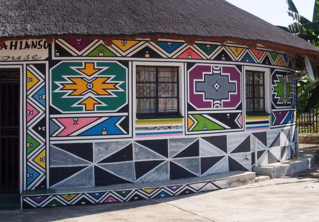 Esther mahlangu creates murals for virginia mfa burnaway for African mural painting