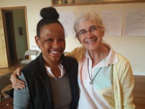 I was so happy to be in her presence. She is so captivating . . . Kay Pranis, a national leader in restorative justice, specializing in peace circles.