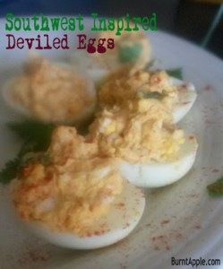 Southwest Deviled Eggs–Chile Infused
