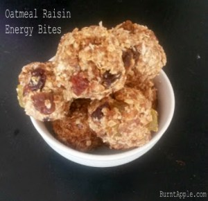 No Bake Oatmeal Raisin Energy Bites