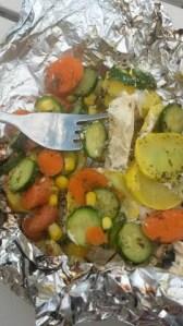 mediterranean herb chicken tin foil dinner
