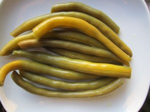 Not Pickled Green Beans