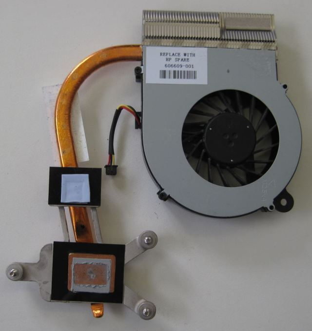 HP Compaq Presario CQ56 Heat sink and fan - bottom