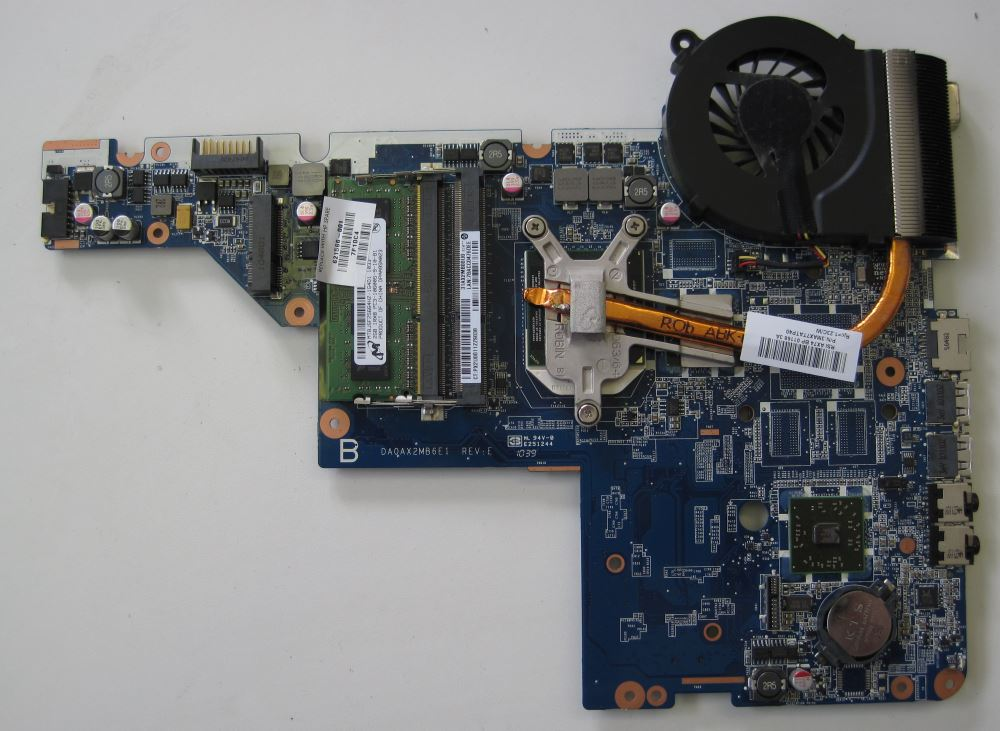 how to fix system fan 90b error on a hp compaq presario laptop hp compaq presario cq58 motherboard underneath