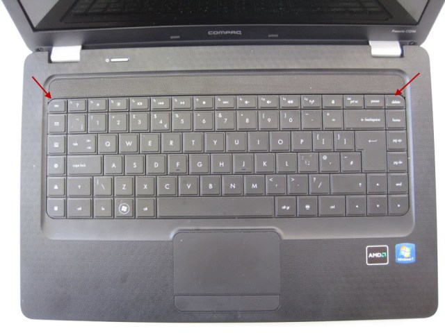 HP Compaq keyboard removal