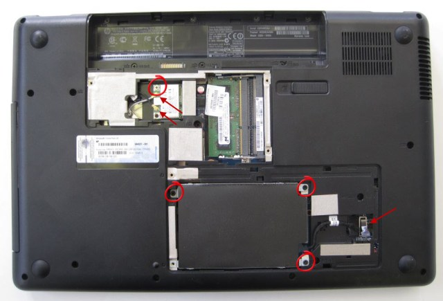 HP Compaq removing hard drive and wifi card
