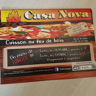 Flyer/Menu pizzeria