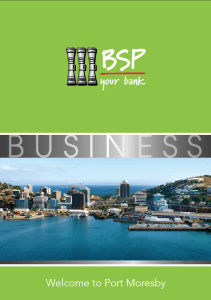 Welcome to Port Moresby (BSP)