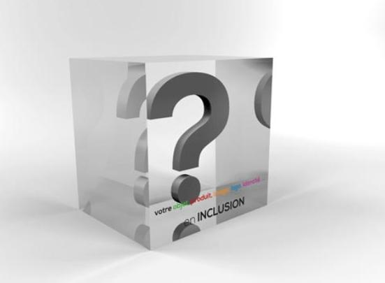 inclusion acrylique