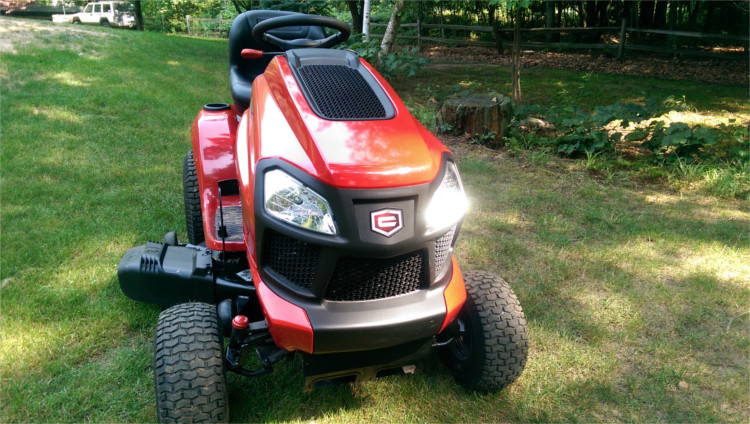 "craftsman 42"" turn tight fast riding mower 