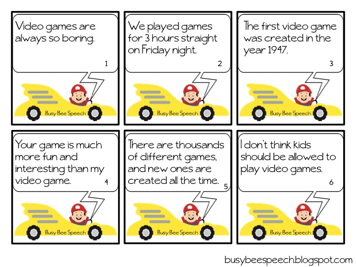 Game Hero Fact and Opinion - Busy Bee Speech
