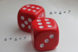 Dice Rolling Math Game for Kids